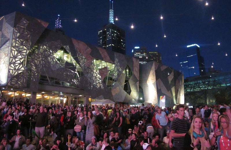 New Year\'s eve - Federation Square, Melbourne