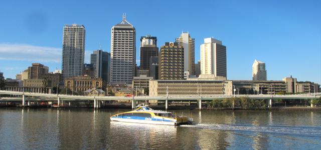 Brisbane Ville arrivée Australie