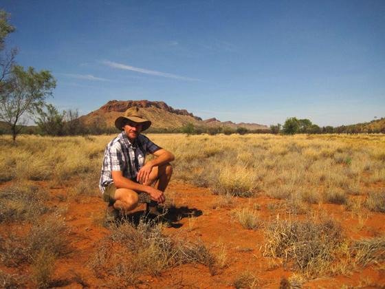 Chris Barnes Brolga in the outback Alice Springs
