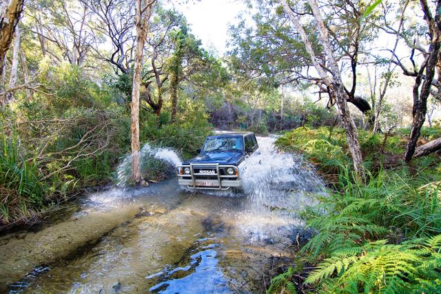 Fraser Island 4WD river crossing
