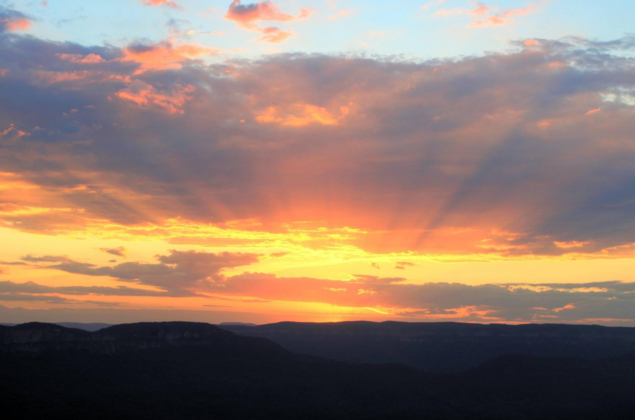 Blue Mountains - Coucher de soleil