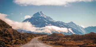 location vehicule nouvelle zelande road mount cook