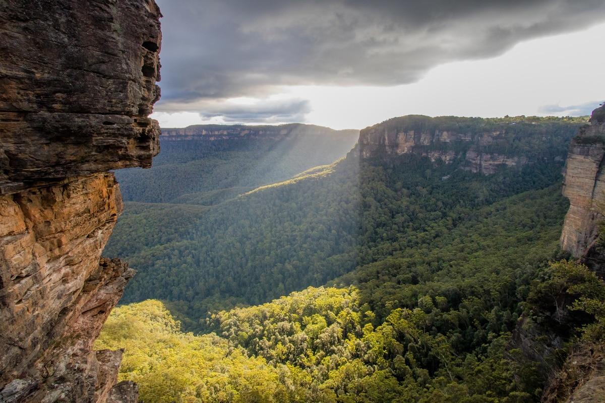Three Sisters flanc de falaise - Blue Mountains
