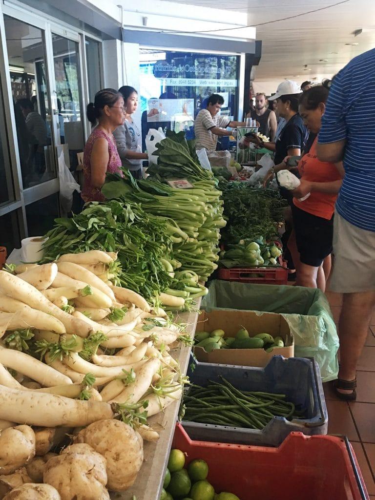 Marché fruits légumes locaux - Road trip Australie