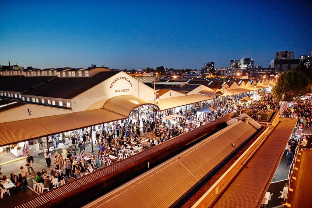 Queen Victoria Market de nuit Melbourne