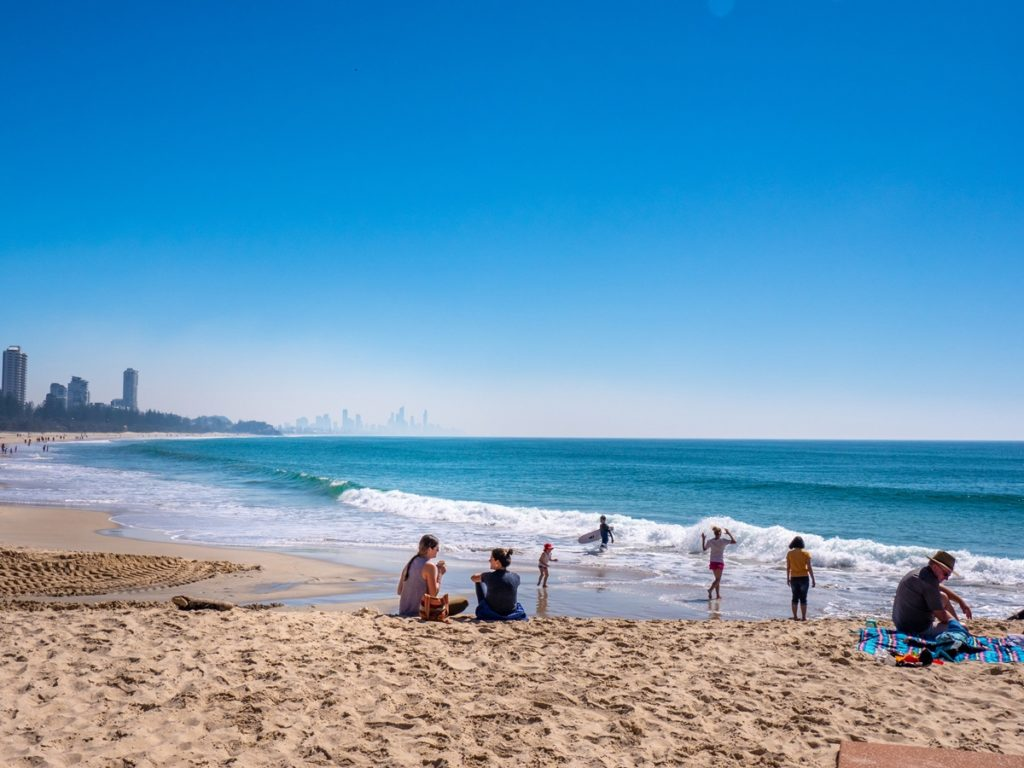 Plage de Gold Coast