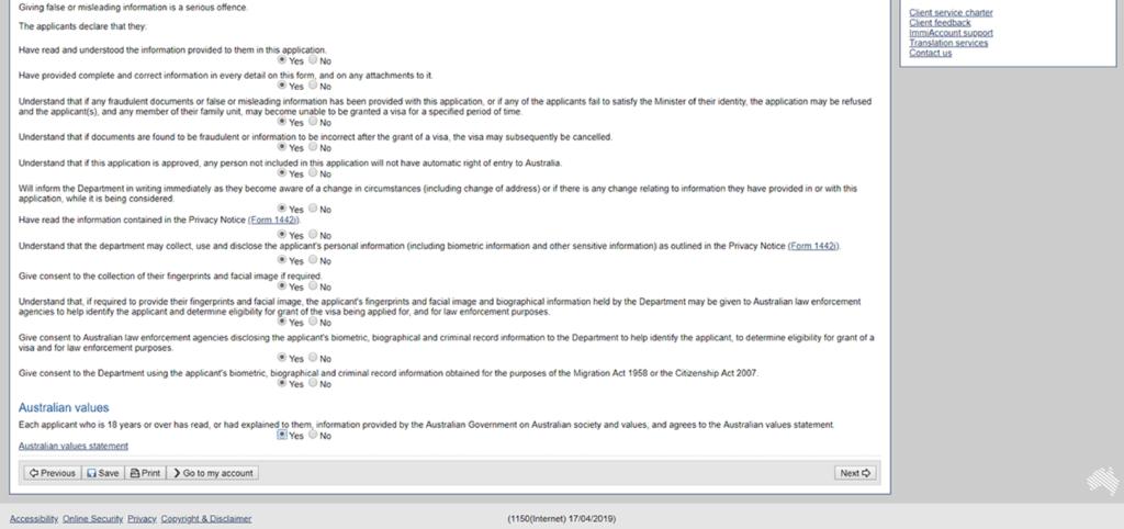tutoriel whv australie tuto demande whv étape 14 déclaration suite 2