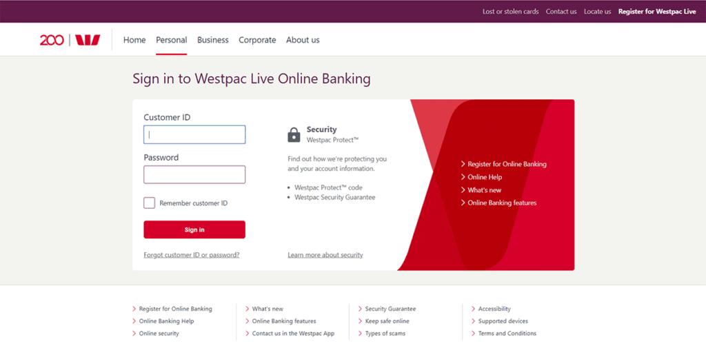 ouvrir un compte westpac connection en ligne