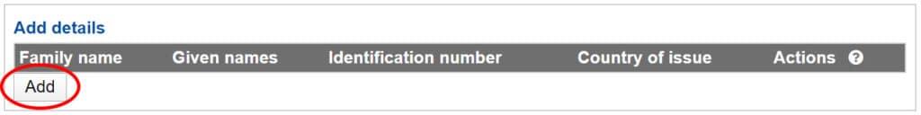 ajout carte d'identité demande visa whv