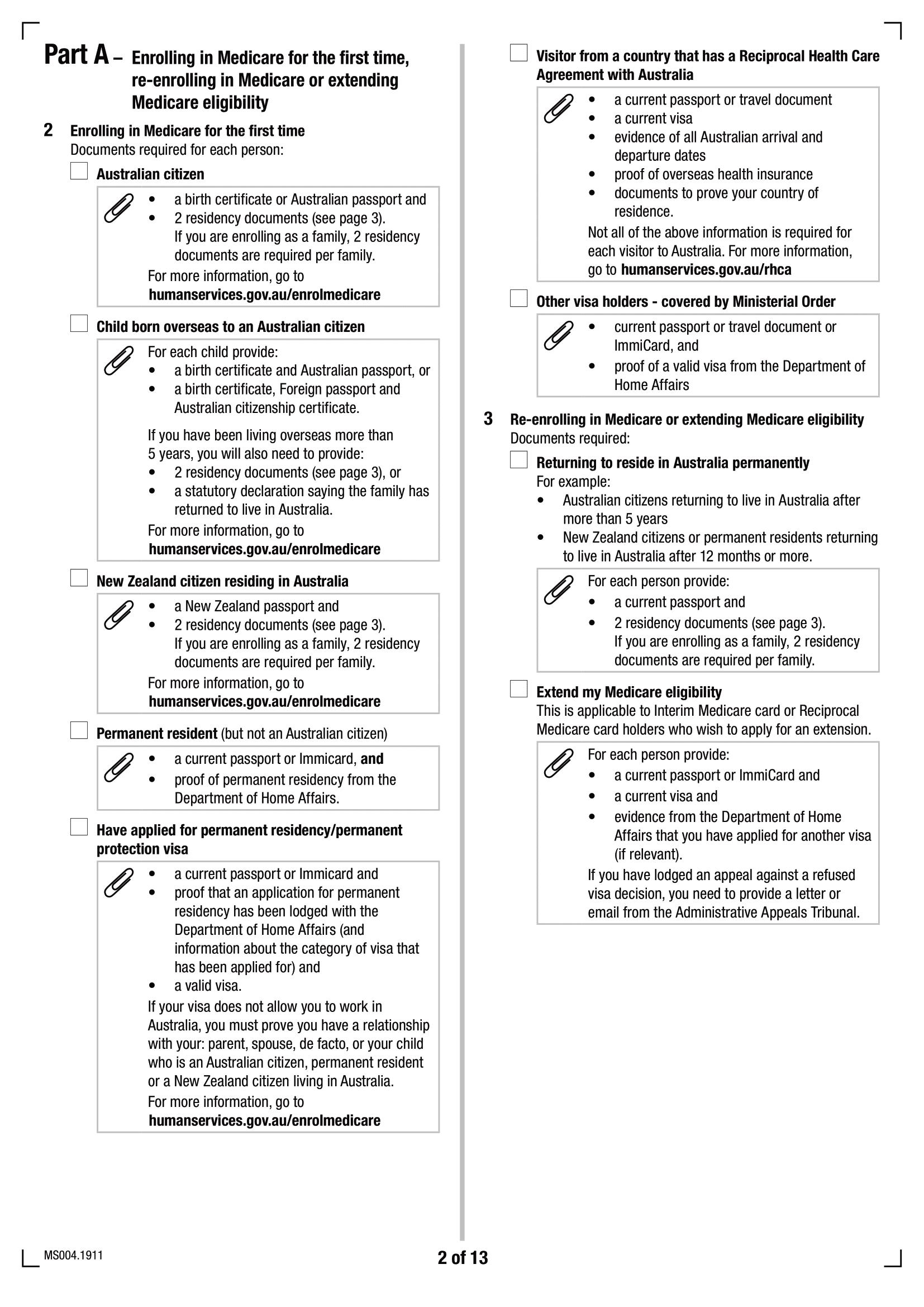 Formulaire d'inscription Medicare MS004 - Page 2